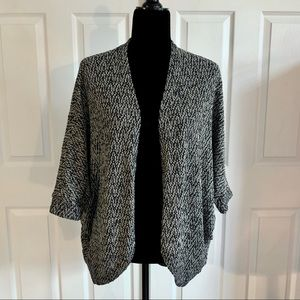 Mossimo Drop Sleeve Black and White Open Cardigan